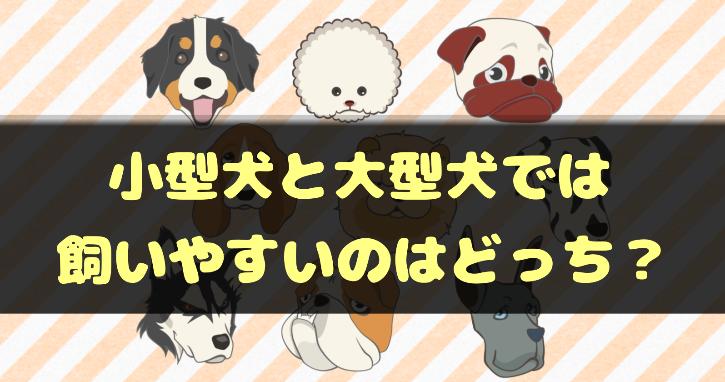 小型犬と大型犬はどちらが飼いやすい?