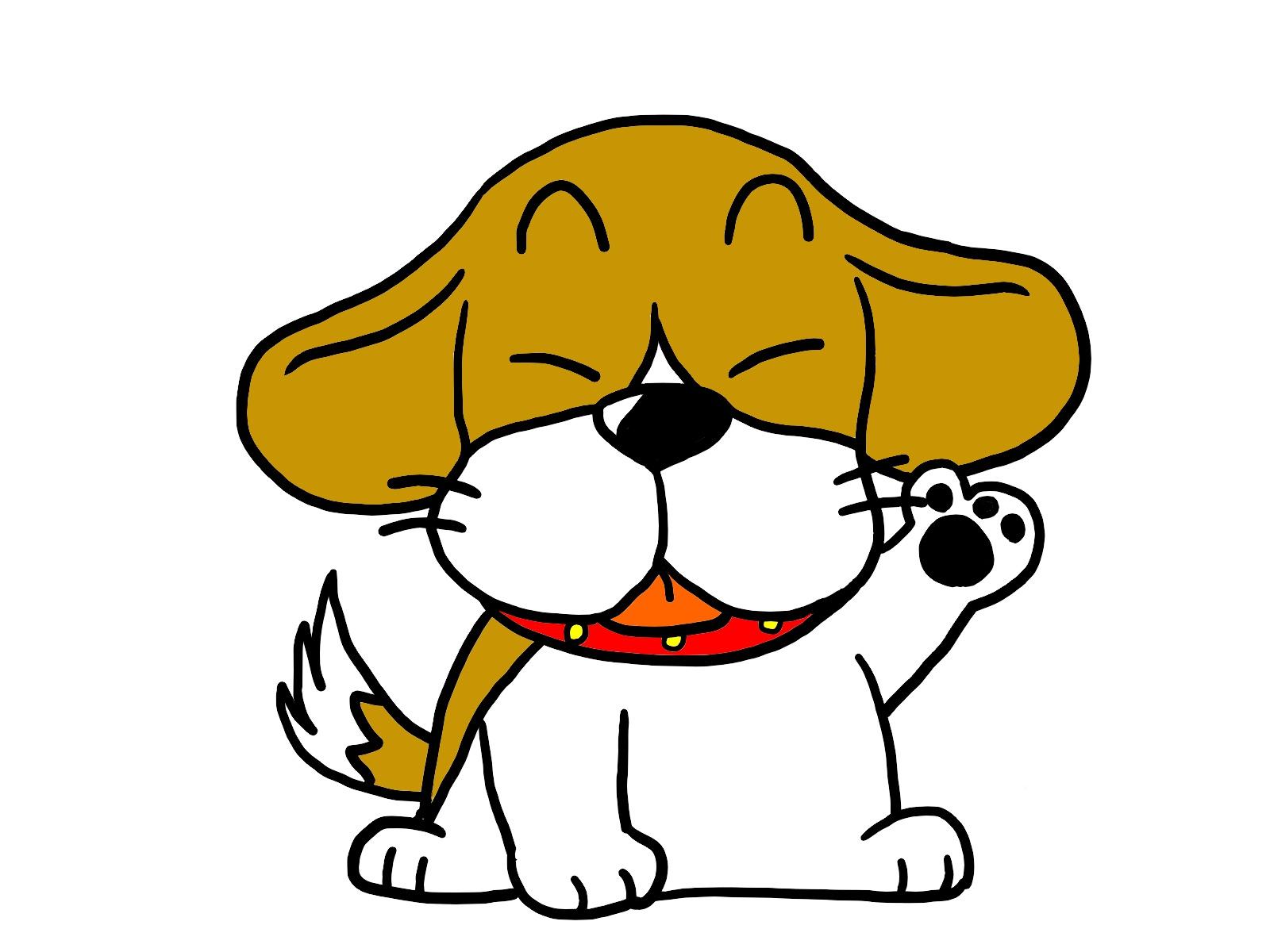 たれ耳の犬